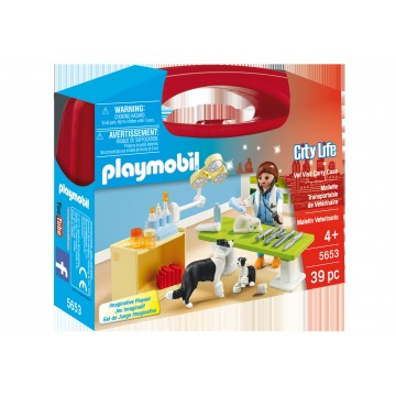 Set portabil In vizita la veterinar Playmobil